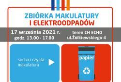 Kolejna zbiórka makulatury i elektroodpadów!!